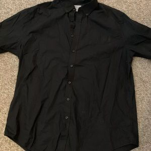 Croft & Barrow Men's Short Sleeve Black Button XXL